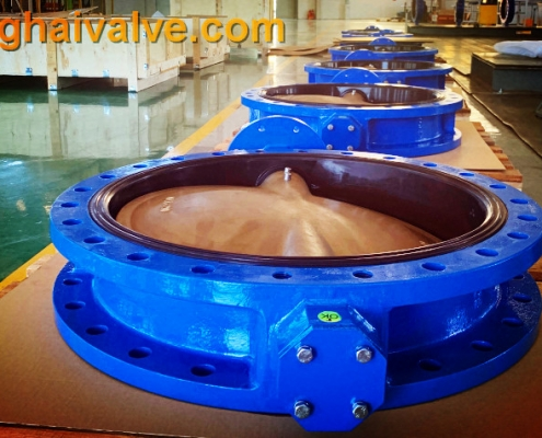 Double flange butterfly valve (16)