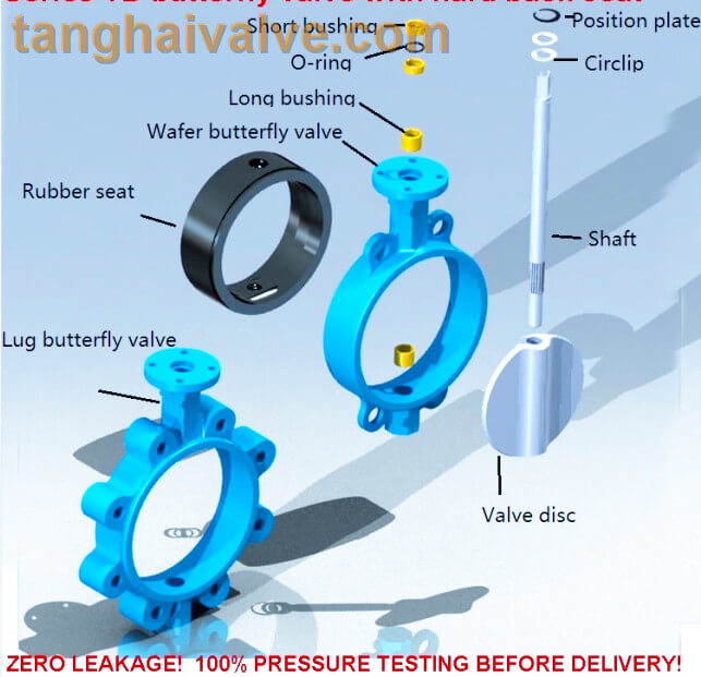 Wafer and Lug type butterfly valve structures & parts