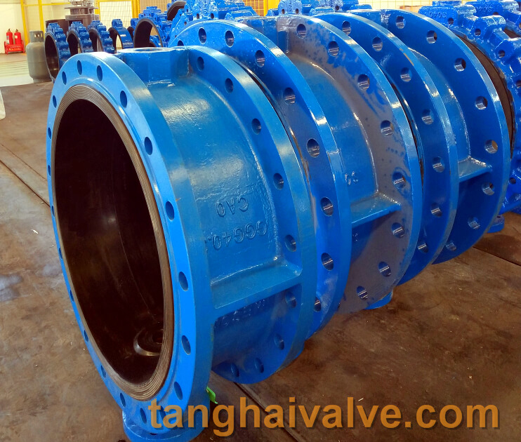 double flange butterfly valve body