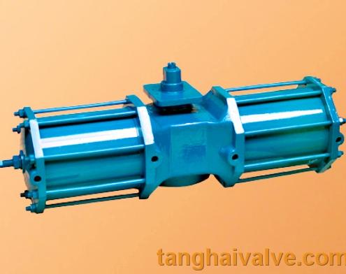 hydraulic actuator for marine valve