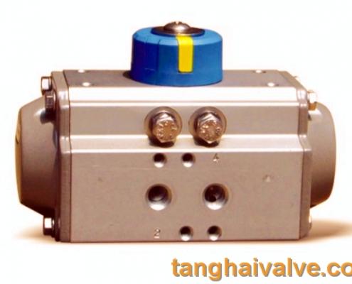 pneumatic actuator for marine valve