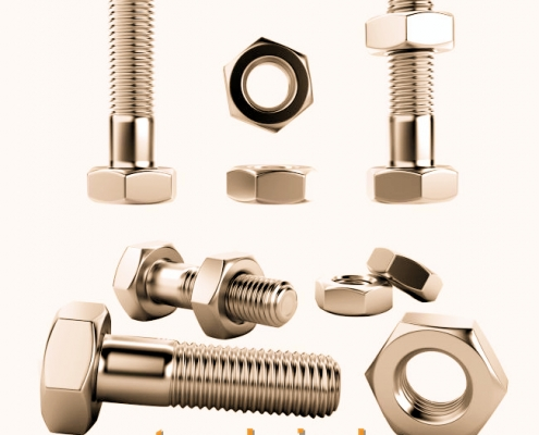 screws and nuts for butterfly valve