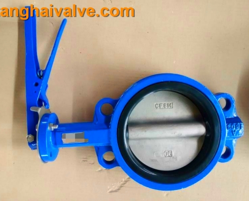 wafer type butterfly valve, with handle (13)