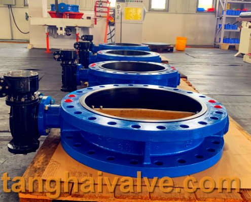 U-type flange butterfly valve, ductile iron, DI, center line,