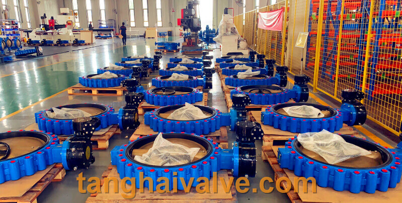 lug type butterfly valve, ductile iron, center lined,