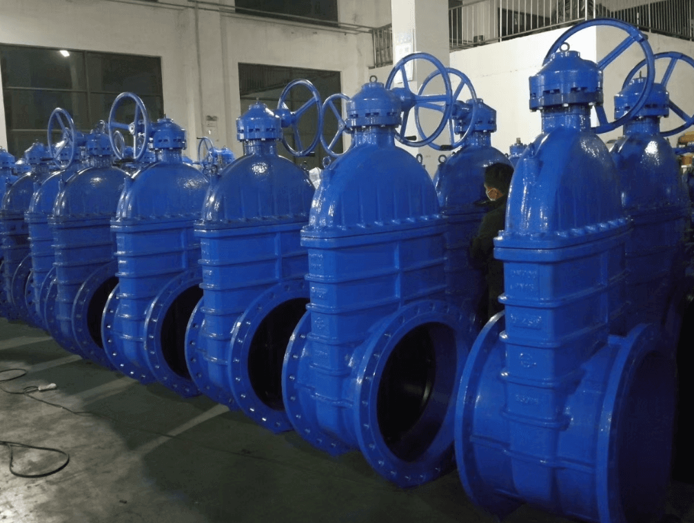 ductile iron soft seal gate valve-non rising stem