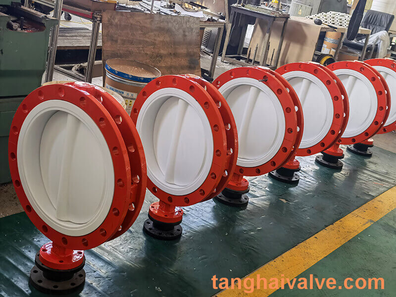 Fluorine lined butterfly valve-PTFE-DOUBLE FLANGE (2)