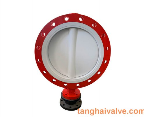 Fluorine lined butterfly valve-PTFE-DOUBLE FLANGE (3)