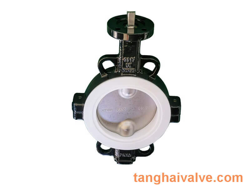 Fluorine lined butterfly valve-PTFE-WAFER (1)