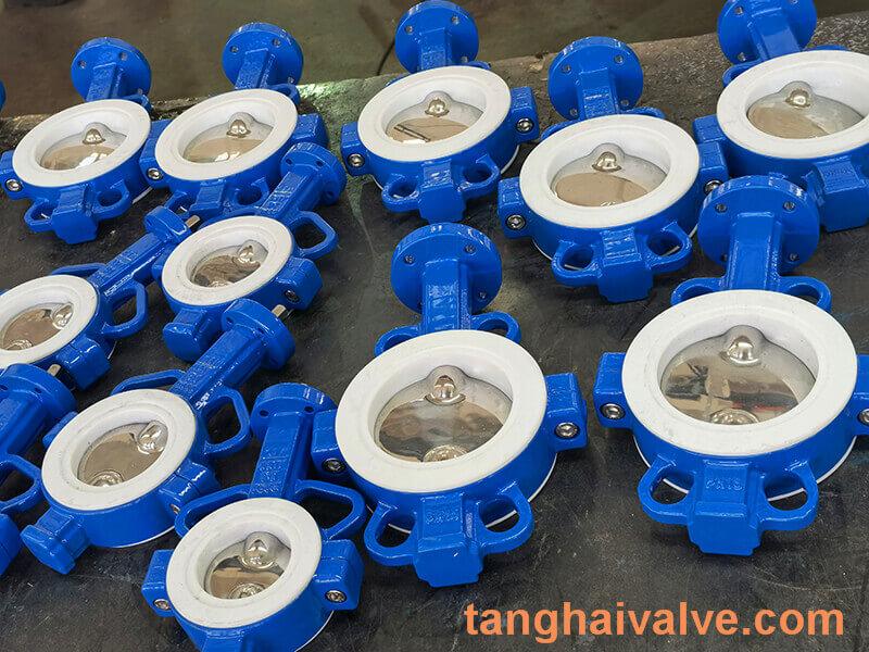 Fluorine lined butterfly valve-PTFE-WAFER (10)
