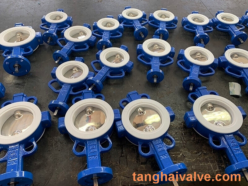 Fluorine lined butterfly valve-PTFE-WAFER (4)