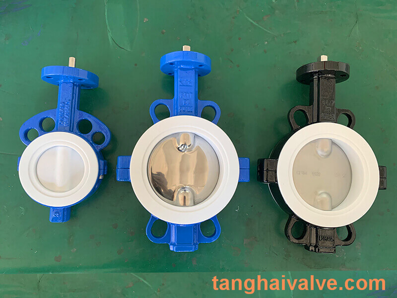 Fluorine lined butterfly valve-PTFE-WAFER (8)