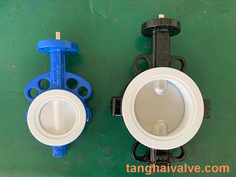 Fluorine lined butterfly valve-PTFE-WAFER (9)