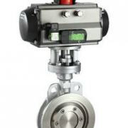 D673H-16C-stainless steel pneumatic triple eccentric butterfly valve