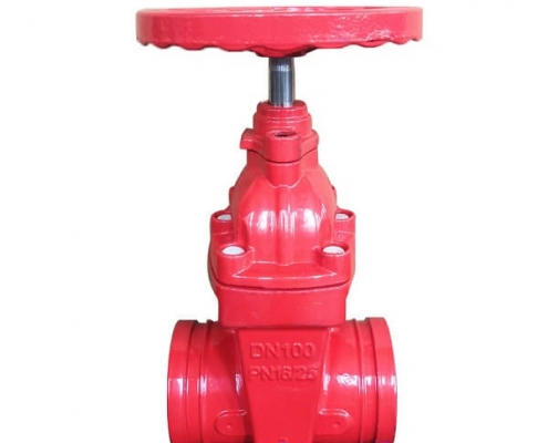 Grooved resilient seated BB NRS wedge gate valve (4)