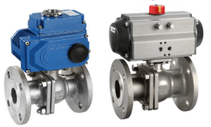 Pneumatic electric high platform ball valve
