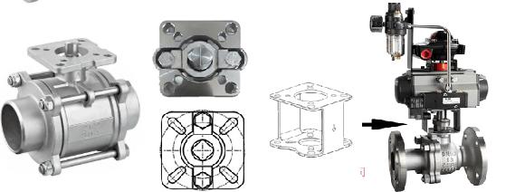 Schematic diagram of high platform ball valve