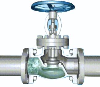 Schematic diagram of shut-off valve (closed state)