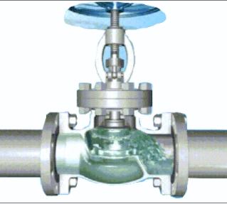 Schematic diagram of shut-off valve (open state)
