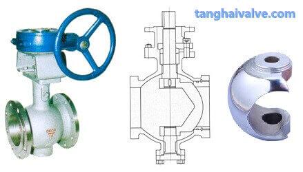 V type ball valve, V-shaped ball core