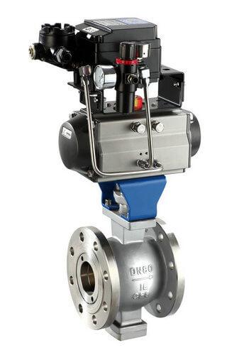 pneumatic V type ball valve