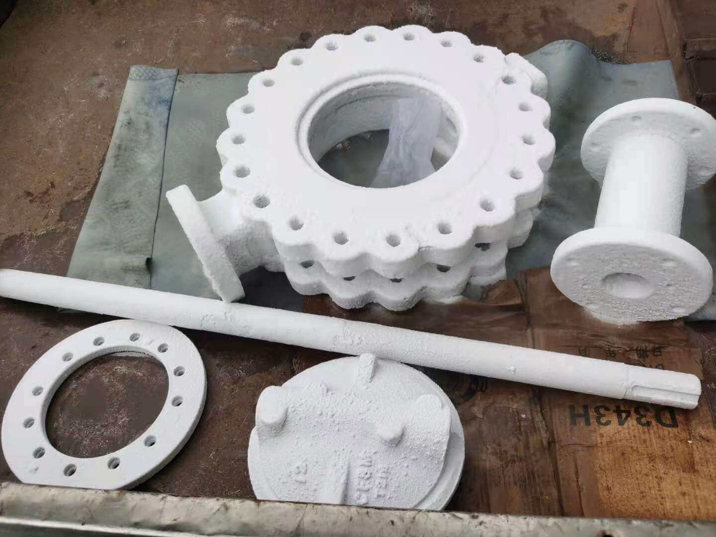 triple offset valve parts-after-cryogenic process