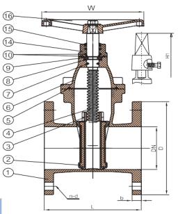 gate valve structure diagram