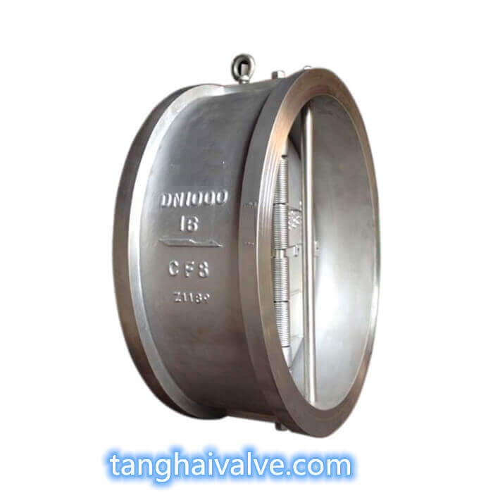 H76-wafer type dual plate check valve metal seated