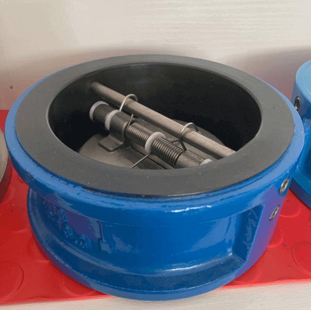 dual plates check valve photos- full rubber